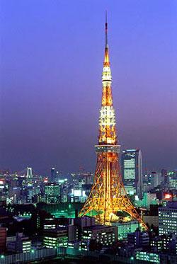东京铁塔意境图片