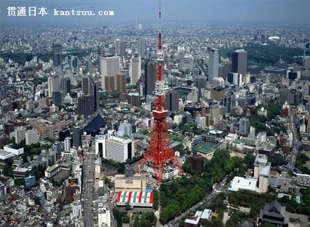 矗立于东京都港区芝公园西侧的东京铁塔