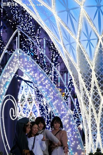 福冈的冬季灯光秀亮灯 将持续至明年1月(图片来源:朝日新闻网站)